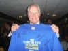 Joe Royle with Goodison Challenge Shirt