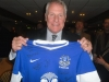 Joe Royle with Everton Shirt