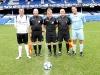 Captains line up before Radio City v Celebs match