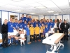 The Everton Legends in the dressing room