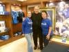 Joe Royle with EitC Carena Duffy and a Volunteer
